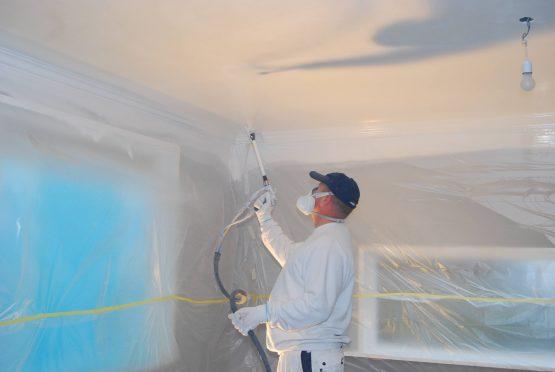 Airless spuittechniek egale plafond